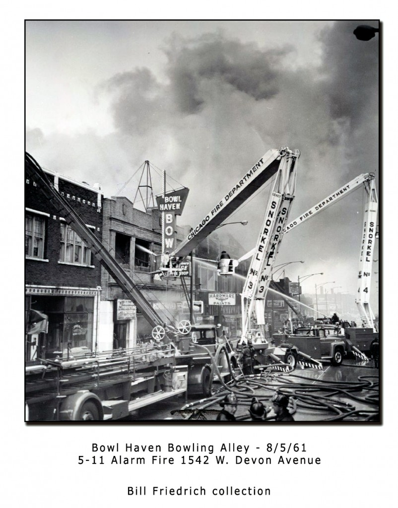 Chicago Fire Department extra alarm 5-11 fire 1961