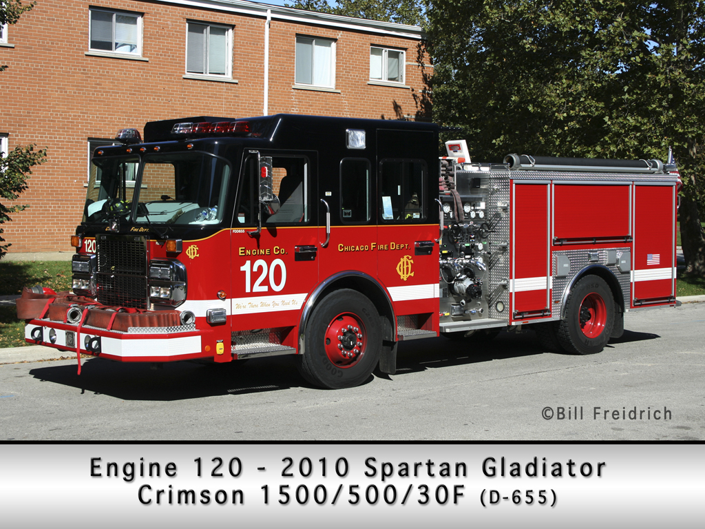 Chicago Fire Department Engine 120 Spartan Gladiator Classic Crimson