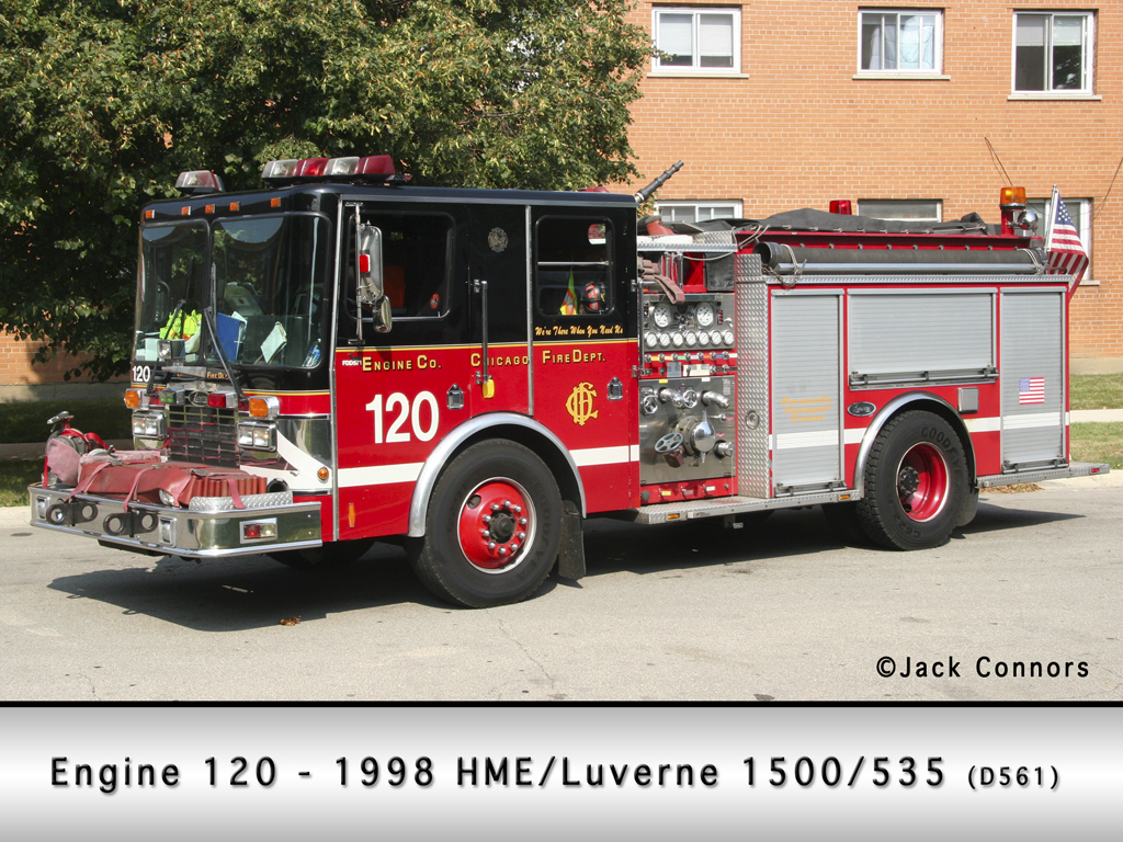 Chicago Fire Department Engine 120 HME 1871 SFO Luverne