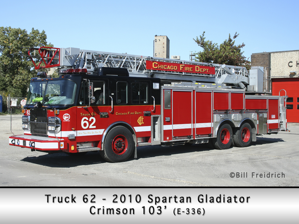 Chicago Fire Department Truck 62 Spartan Gladiator Crimson