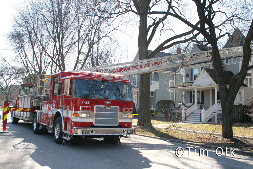 Evanston house fire 2-20-12 on Elmwood