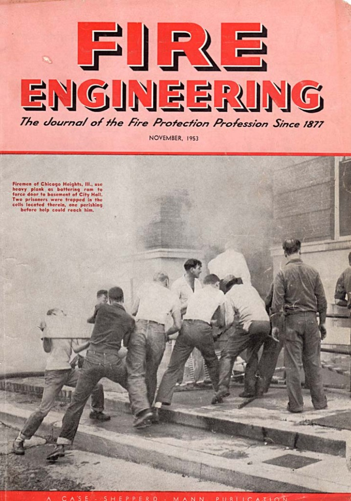 Fire Engineering Magazine Cover from November 1953