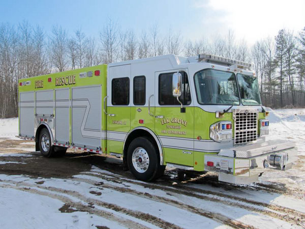 Elk Grove Township FPD new Marion rescue pumper
