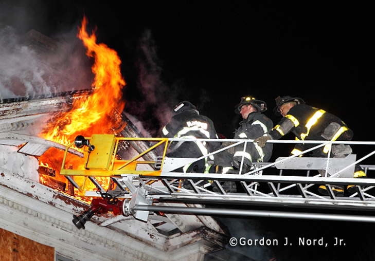 Maywood vacant building fire 2-19-12