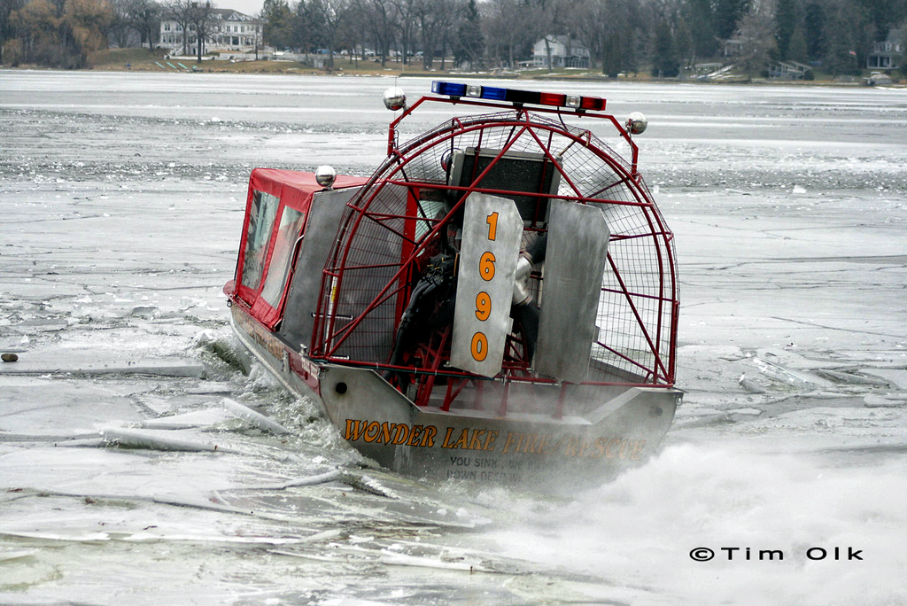 Fire department divers recover body of fisherman that fell through the ice 2-4-12