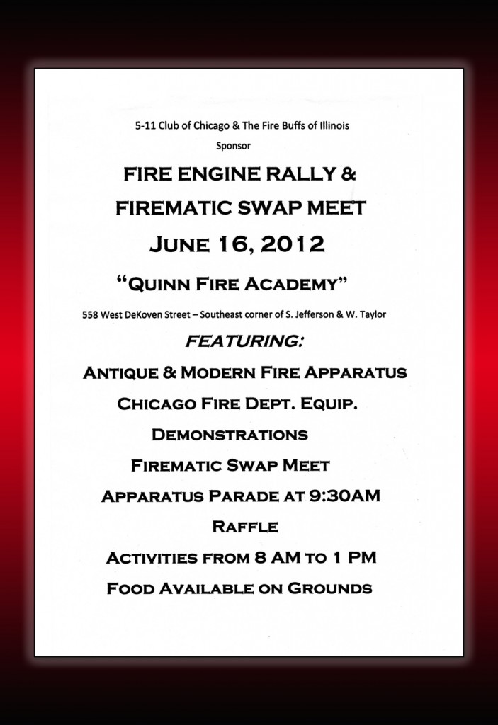 Fire Engine Rally & Firematic Swap Meet Chicago