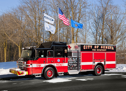 Geneva Fire Department new Pierce engine