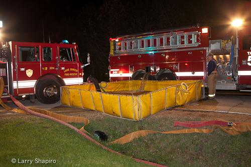 Barrington house fire 3-28-12 at 23170 Church Road tanker shuttle