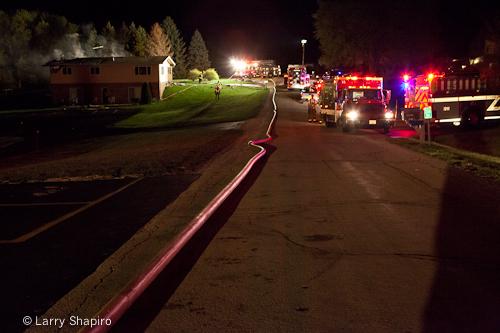 Barrington house fire 3-28-12 at 23170 Church Road
