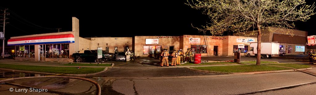 Wood Dale Fire Department commercial fire 3-29-12 at 370 E. Irving Park Road