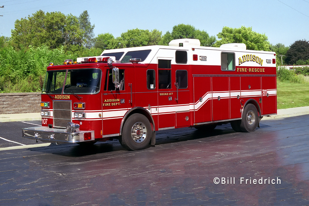 Addison Fire District 1994 Pierce Lance Heavy Rescue