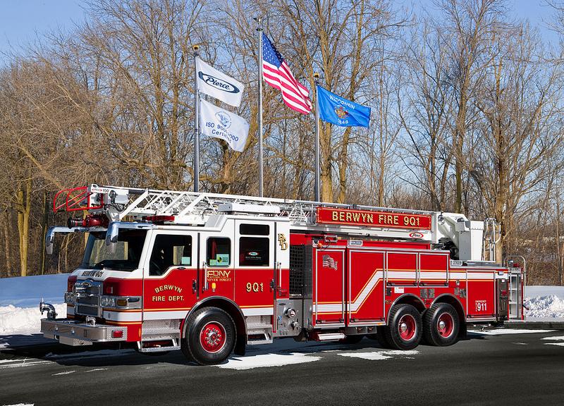 Berwyn Fire Department Pierce Velocity quint