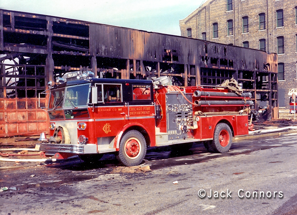 Chicago Fire Department history Ward LaFrance 1967 Engine 107
