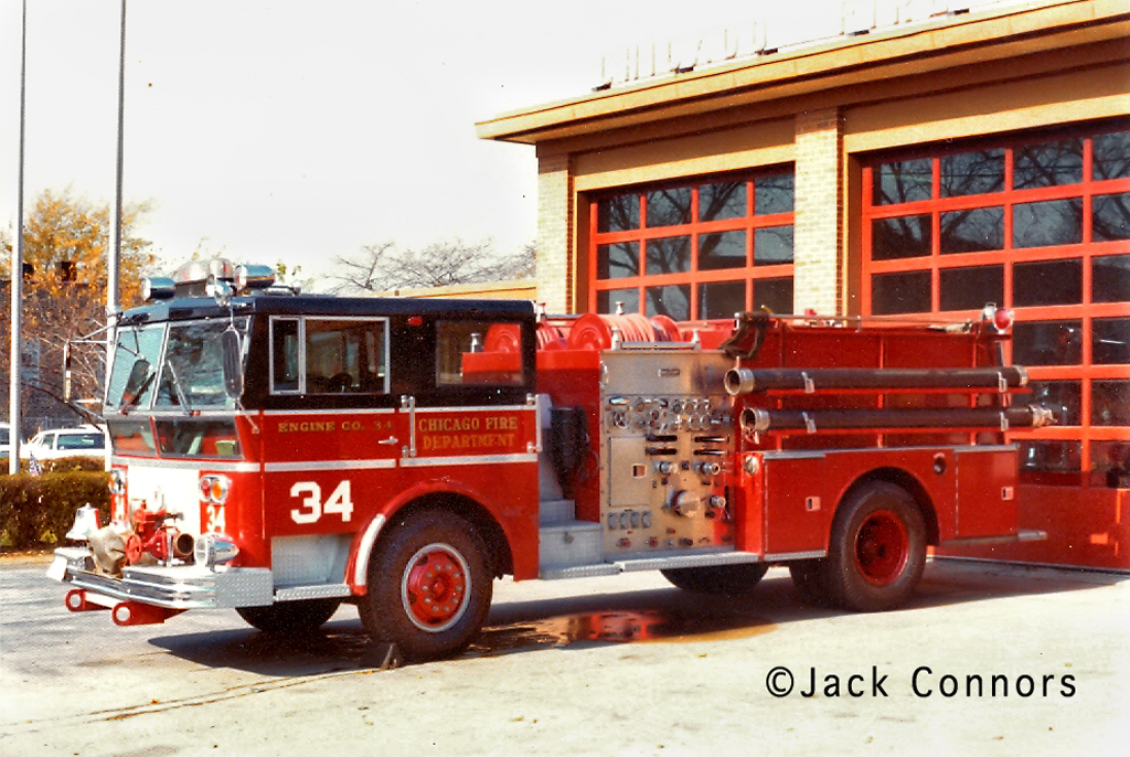 Chicago Fire Department history Ward LaFrance 1967 Engine 34