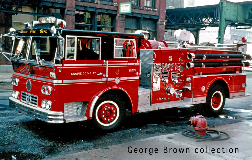 Chicago Fire Department history Ward LaFrance 1967 Engine
