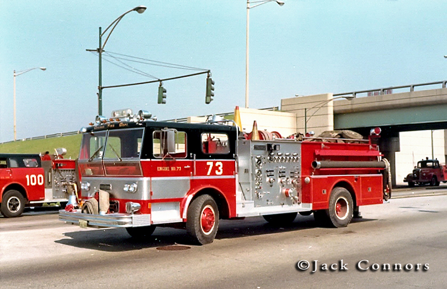Chicago Fire Department 1970 Ward LaFrance P80 Ambassador engine 73