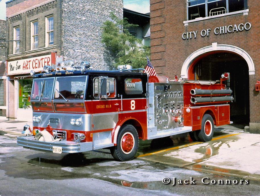 Chicago Fire Department 1970 Ward LaFrance P80 Ambassador engine 8