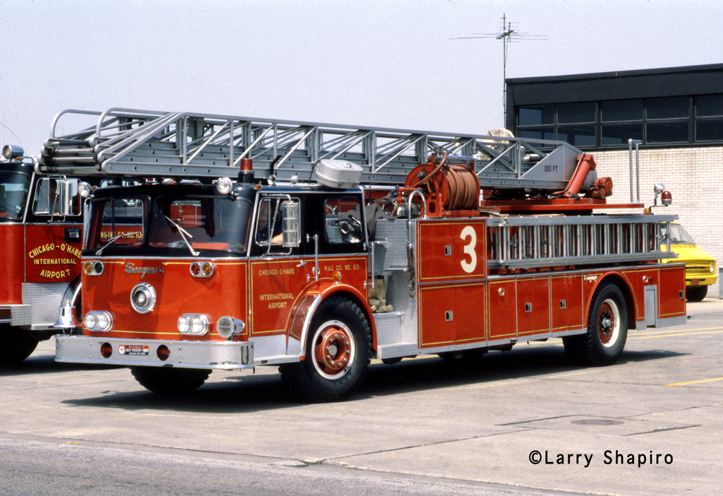 Chicago Fire Department 1968 Seagrave Rear Admiral O'hare Airport