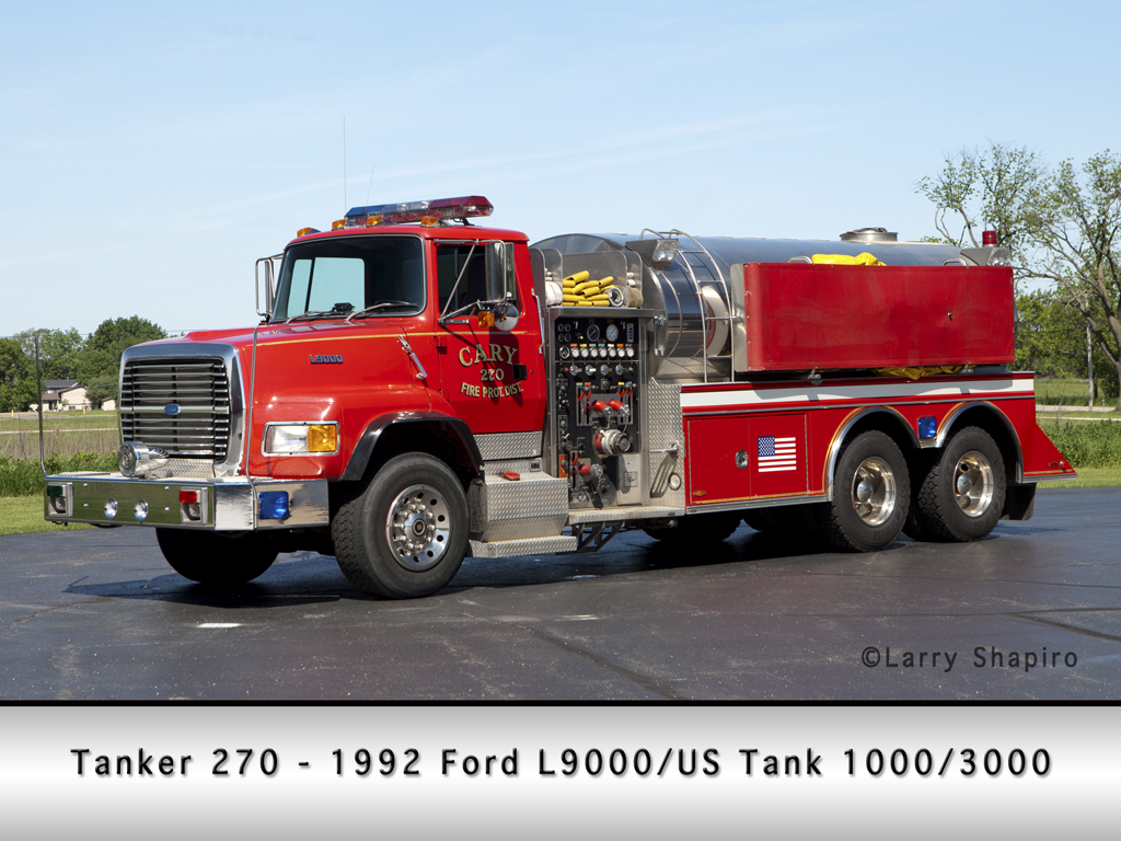 Cary Fire Protection District Tanker 270 US Tank