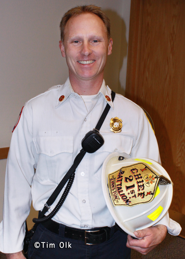 Evanston Fire Department Battalion Chief Bill Muno