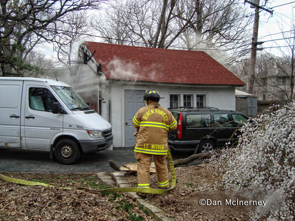 River Forest Fire Department garage fire 111 Thatcher 3-1912