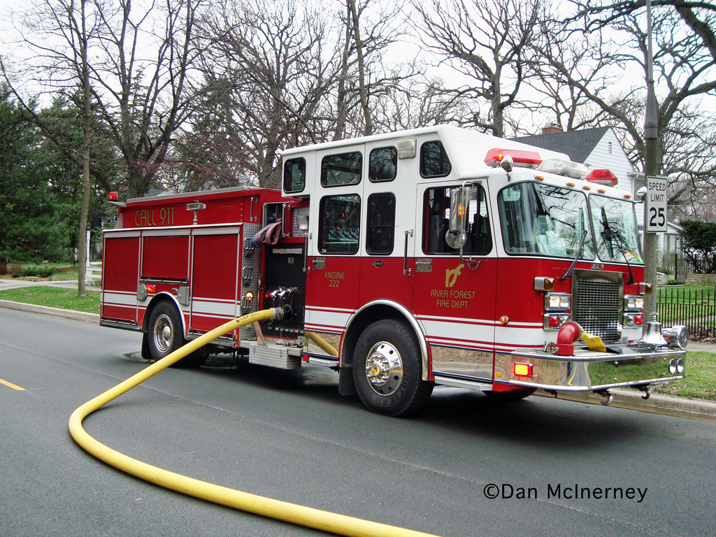 River Forest Fire Department Darley engine 222
