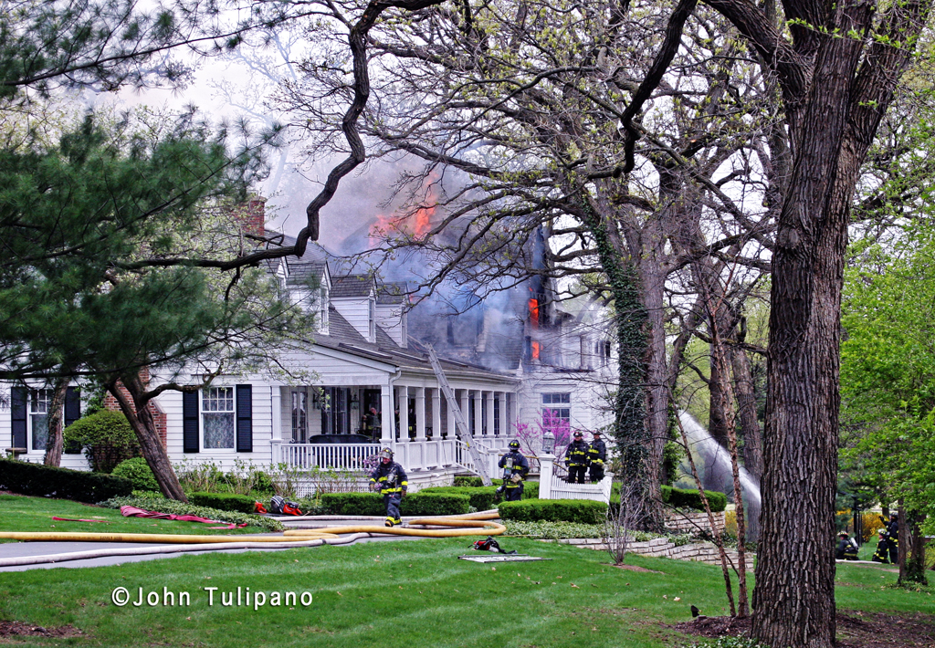 Glen Ellyn Fire Department 3rd Alarm house fire 3-27-12