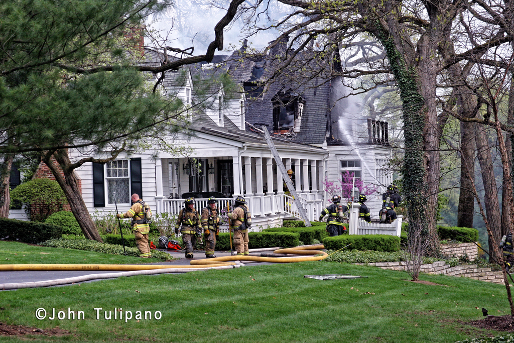 Glen Ellyn Fire Department 3rd Alarm house fire 3-27-12