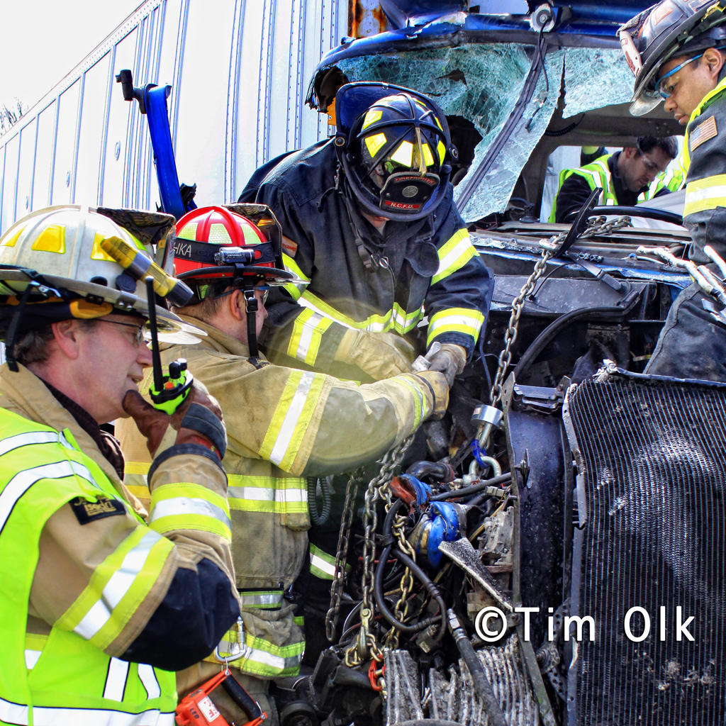 truck collision 3-8-12 Route 41 with trapped driver