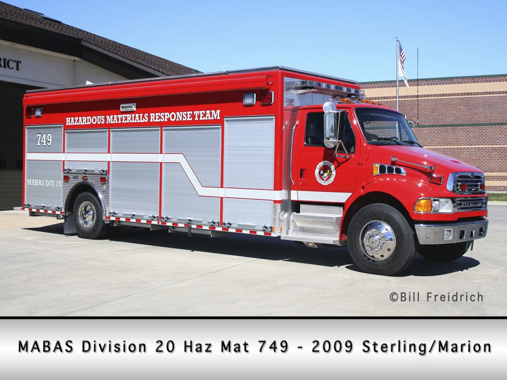 MABAS Division 20 Haz Mat Unit 749 Sterling Marion