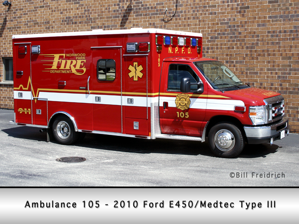 Norwood park Fire Protection District Medtec Ambulance 105