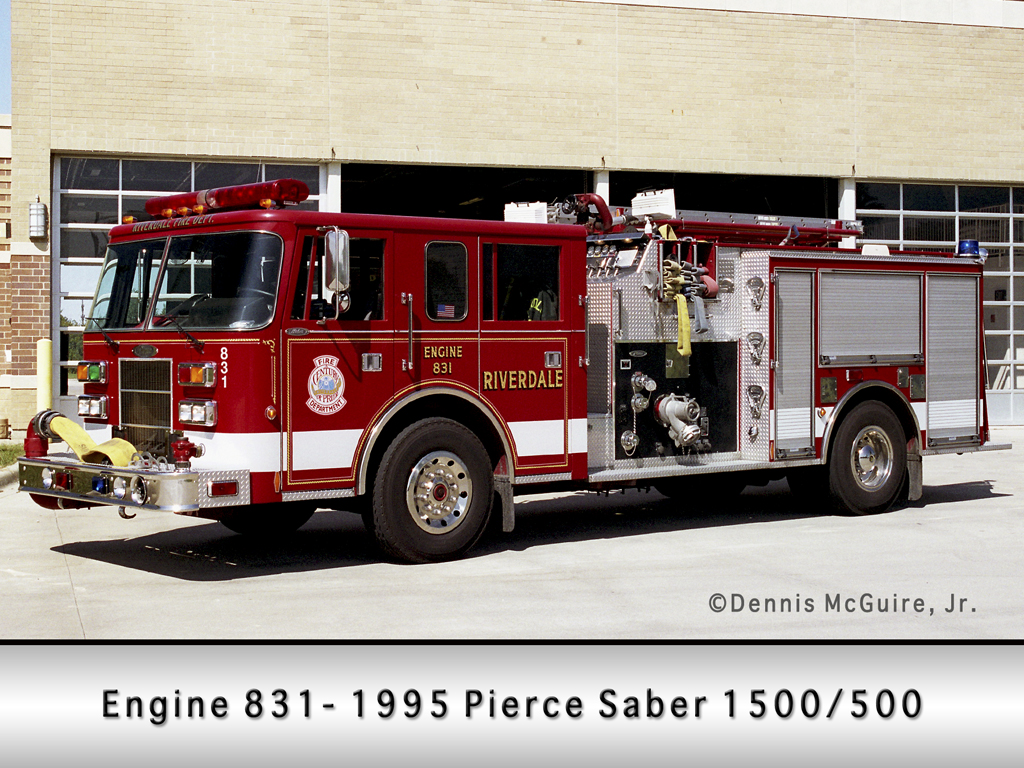 Riverdale Fire Department Engine 831 went to Joplin MO