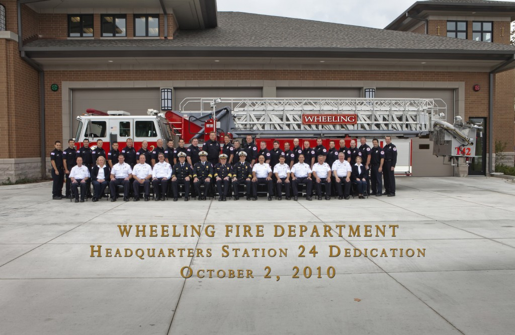 Wheeling Fire Department personnel