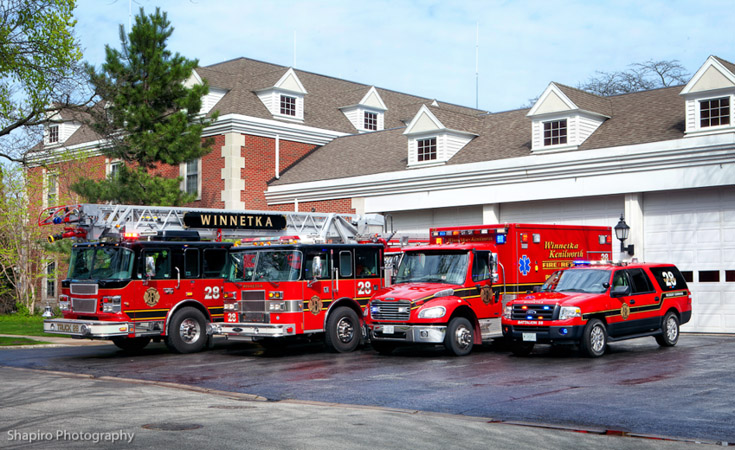 Winnetka Fire Department apparatus fire trucks