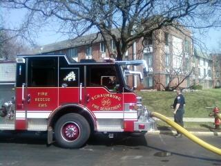 Schaumburg apartment fire 3-16-12 1212 Algonquin Road