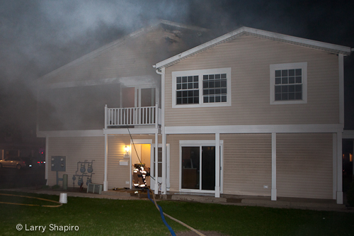 Wheeling Fire Department townhouse fire 1315 Exeter Court IL 4-3-12