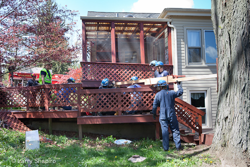 structural collapse on Hazel Crest in Long Grove 4-9-12