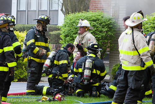 Arlington Heights house fire basement fire 4-18-12 1142 Fernandez injured firefighter