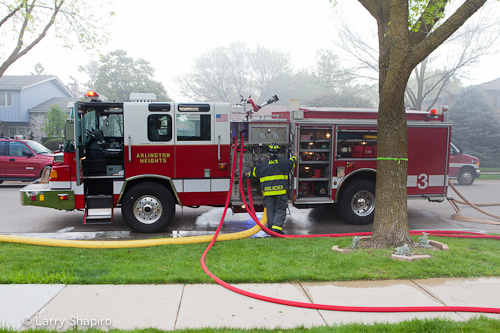 Arlington Heights house fire basement fire 4-18-12 1142 Fernandez Pierce Quantum