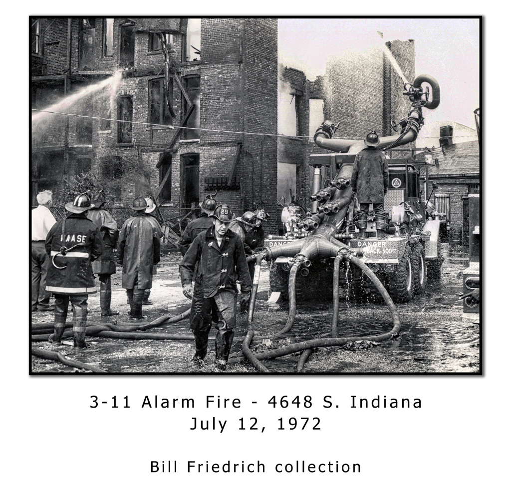 Chicago Fire Department historical fire photo 1972 vintage firefighters