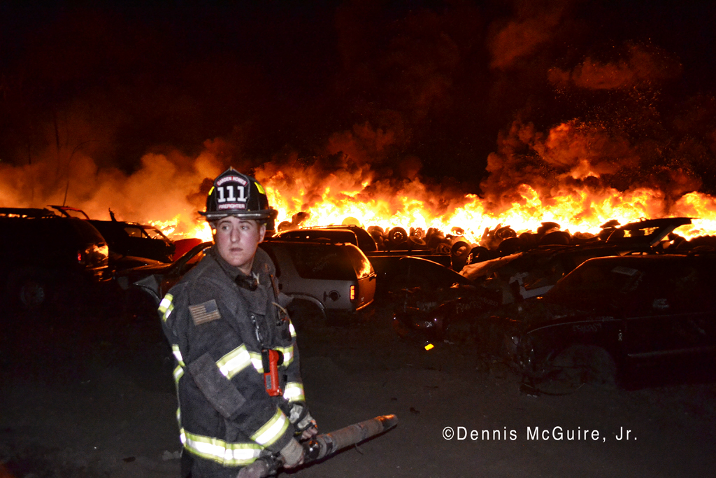 Large tire fire in Robbins IL 4-2-12