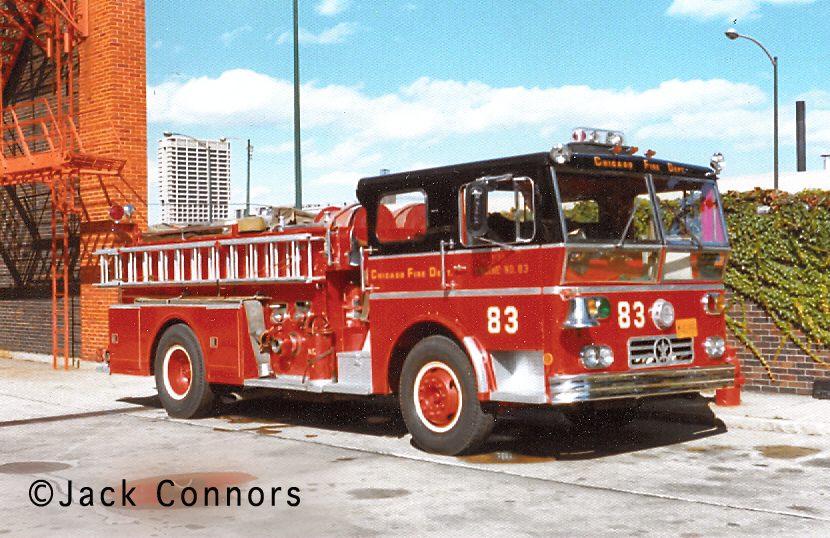 Chicago Fire Department 1969 Ward LaFrance Model P80 Ambassador engine 83