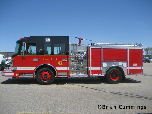 Chicago Fire Department Spartan Crimson engine