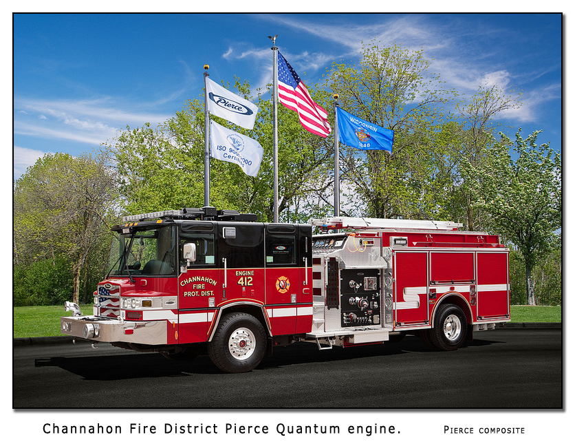 Channahon Fire Protection District Pierce Quantum engine