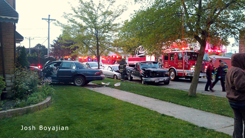 Car into the house in Cicero IL 4-22-12