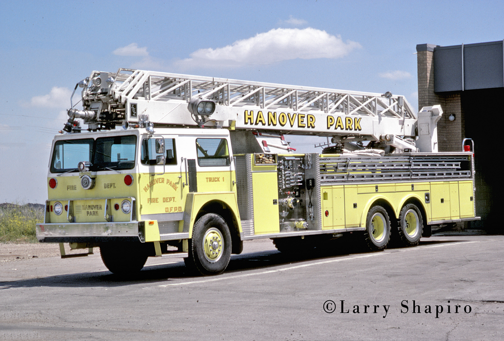Hanover Park FIre Department Hendrickson LTI fire truck