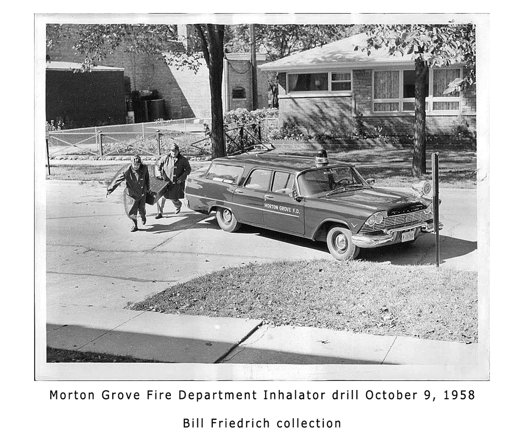 Morton Grove Fire Department history - 1958 ambulance inhalator
