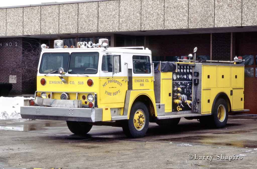 Mount Prospect Fire Department 1975 Pierce engine Hendrickson