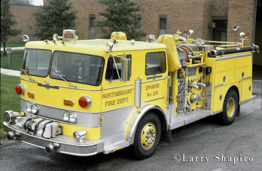 Northbrook Fire Department Engine 58 1975 American LaFrance Pacemaker