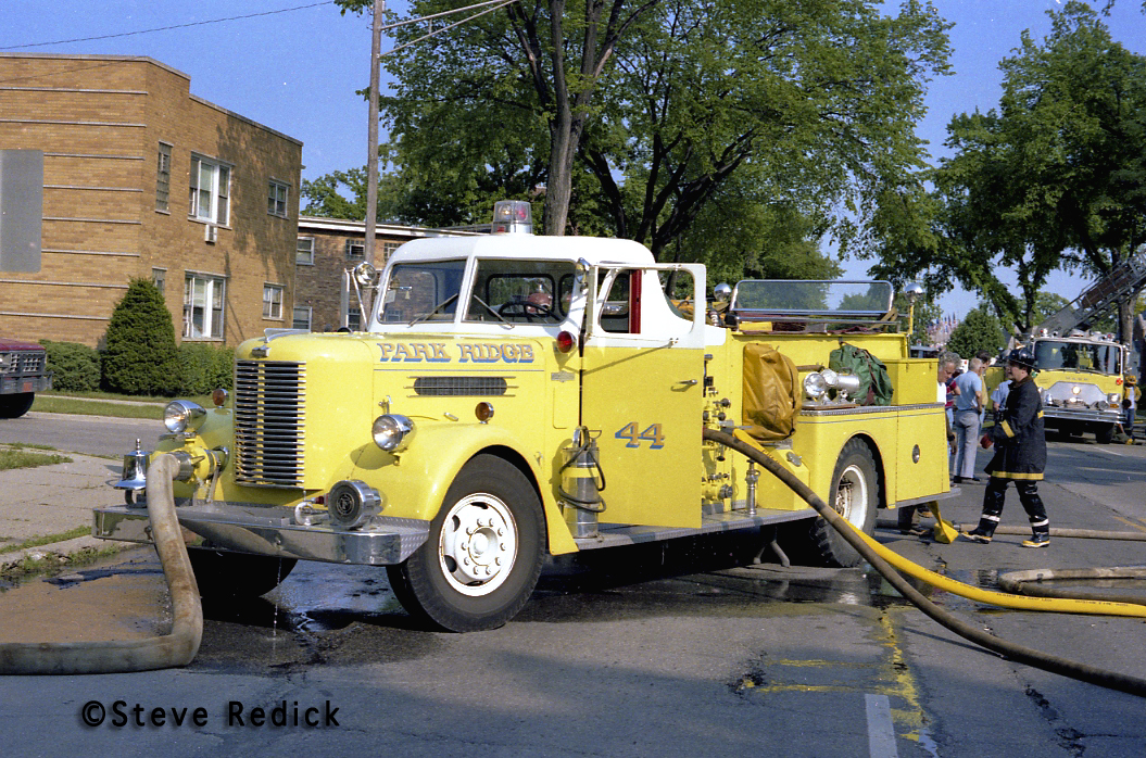 Park Ridge 1958 conventional Pirsch fire engine